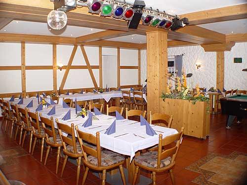 Der Saal im Hotel Kleeberg